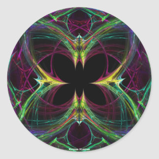 Abstract Butterfly Classic Round Sticker