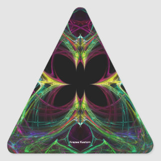 Abstract Butterfly Triangle Sticker