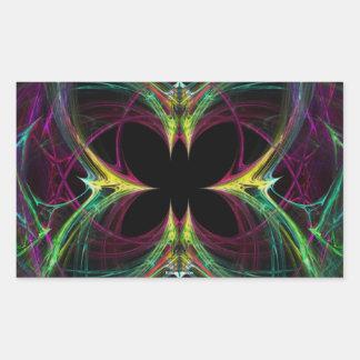 Abstract Butterfly Rectangular Sticker
