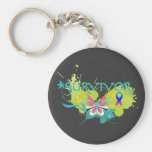 Abstract Butterfly Thyroid Cancer Survivor Key Chain