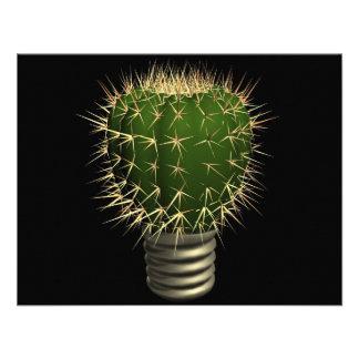 Abstract cactus invite