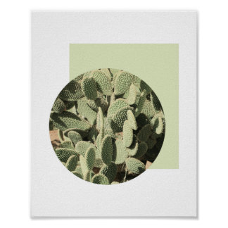 Abstract Cactus Poster | 8x10