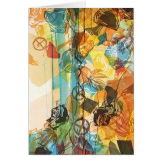 Abstract California Desert Art Card Mojave