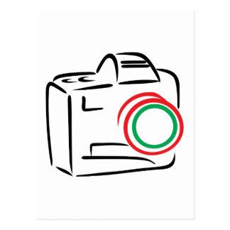 Abstract Camera Postcard