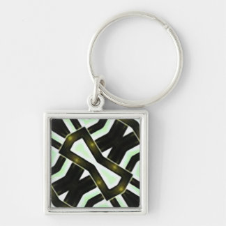 Abstract Camouflage Keychain