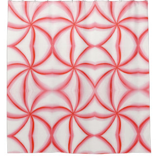 Abstract Candy Mint Swirl Pattern Shower Curtains