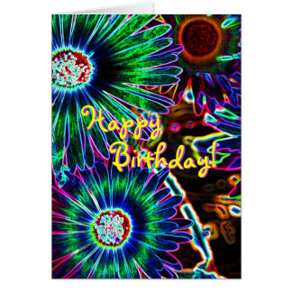 Abstract Cape Daisy birthday card