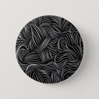 Abstract Cascading Black and White Pattern 6 Cm Round Badge