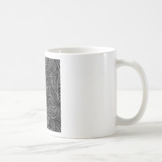 Abstract Cascading Black and White Pattern Coffee Mug