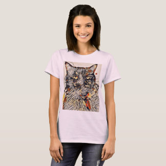 Abstract Cat Women's T-Shirt Pale Pink