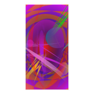 Abstract Cat's Face Photo Card