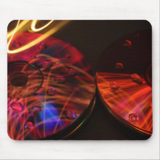 Abstract CD's Mouse Pad