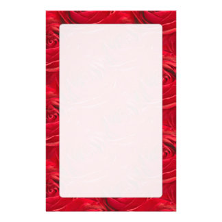 Abstract Center of Red Rose Pattern Custom Stationery