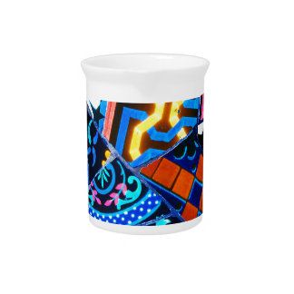 Abstract ceramic background pitcher