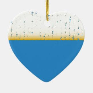 abstract ceramic heart decoration