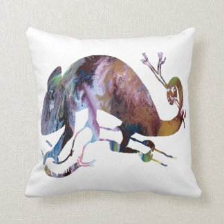 Abstract Chameleon Silhouette Cushion