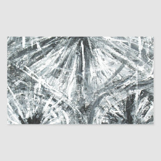 Abstract Chandelier (abstract expressionism) Rectangular Sticker