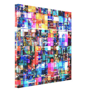Abstract Chaos of Colours Gallery Wrap Canvas