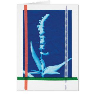 Abstract Cheerful Cyanotype Blank Card