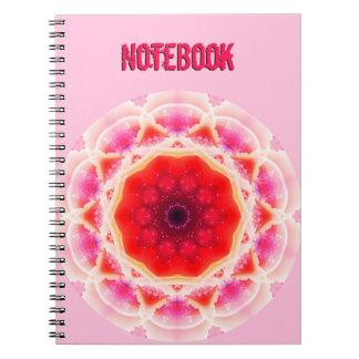 Abstract CheeseCake Mandala Spiral Notebook
