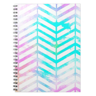 Abstract Chevron Brushstroke Watercolor Spiral Notebook