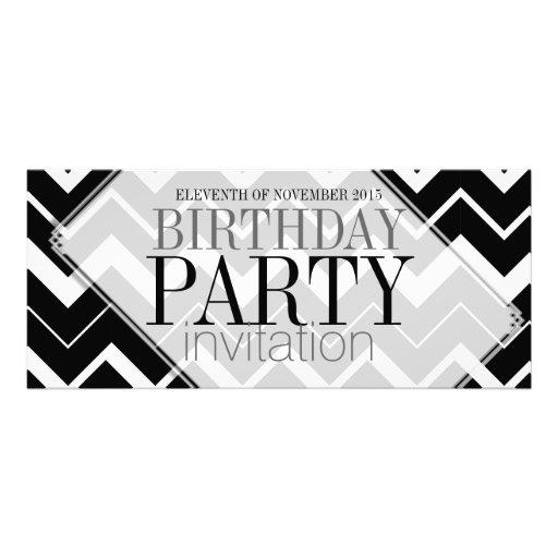 Abstract Chevron Stylish Party Invitations