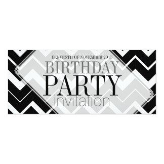 """Abstract Chevron Stylish Party Invitations 4"""" X 9.25"""" Invitation Card"""