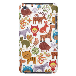 Abstract Child and Animals Pattern iPod Case-Mate Cases