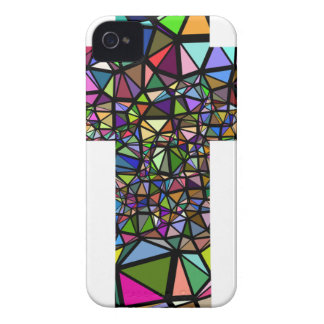 Abstract christmas christ cross iPhone 4 case