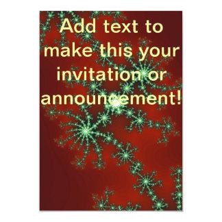 Abstract Christmas Colors 13 Cm X 18 Cm Invitation Card