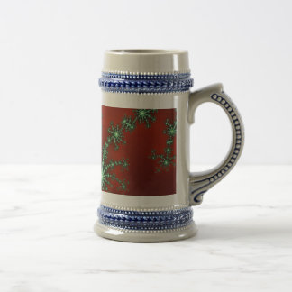 Abstract Christmas Colors Beer Steins