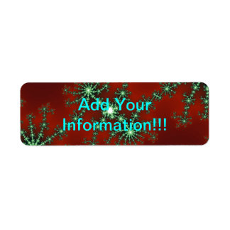 Abstract Christmas Colors Return Address Label