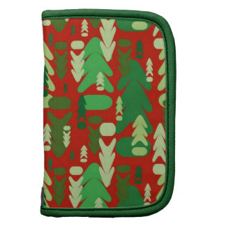 Abstract Christmas Holiday Trees Organizers