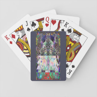 Abstract Christmas Playing Cards