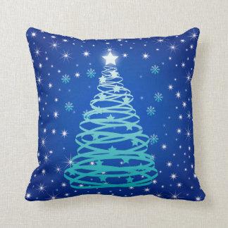 Abstract Christmas Throw Pillow