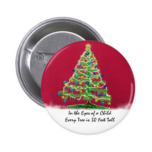 Abstract Christmas Tree Art with Ornaments Buttons