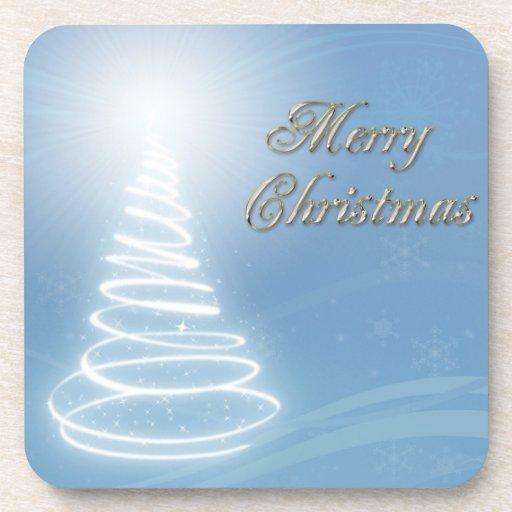 Abstract Christmas Tree Coasters