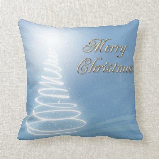 Abstract Christmas Tree Throw Pillow