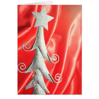 Abstract Christmas tree design Greeting Card