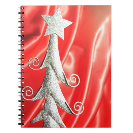 Abstract Christmas tree design Spiral Notebooks