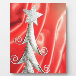 Abstract Christmas tree design Photo Plaque