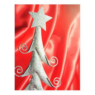 Abstract Christmas tree design Postcard