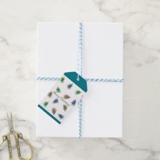 Abstract Christmas tree gift tag.
