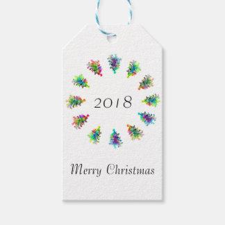 Abstract Christmas tree gift tag. Gift Tags