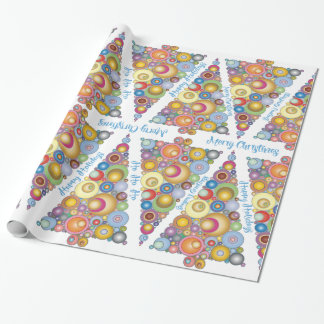 Abstract Christmas Tree Holiday Wrapping Paper