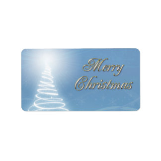 Abstract Christmas Tree Address Label