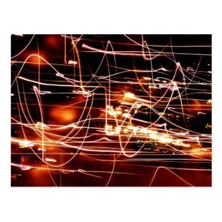 Abstract Christmas Tree Lights Postcard