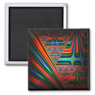 Abstract Christmas Tree Magnet