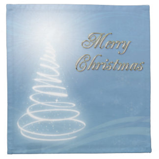 Abstract Christmas Tree Napkin