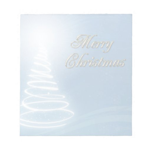 Abstract Christmas Tree Scratch Pad